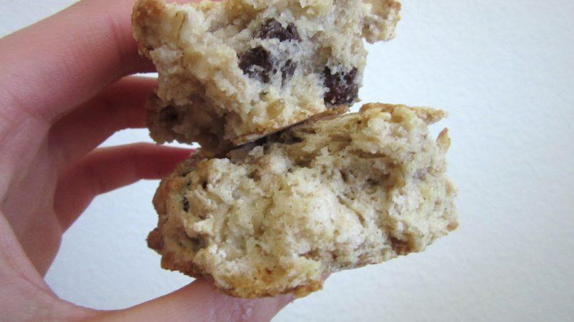 Buttermilk Oatmeal Raisin Scones: stacked