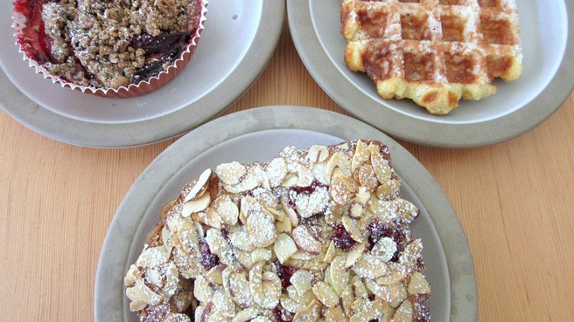Fruit crisp, Liege waffle and bostock from Tartine Manufactory | Delicious Not Gorgeous