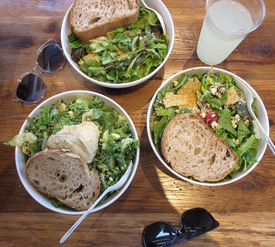 Salads from sweetgreen in Palo Alto, CA. #sweetgreen #salad #paloaltoca