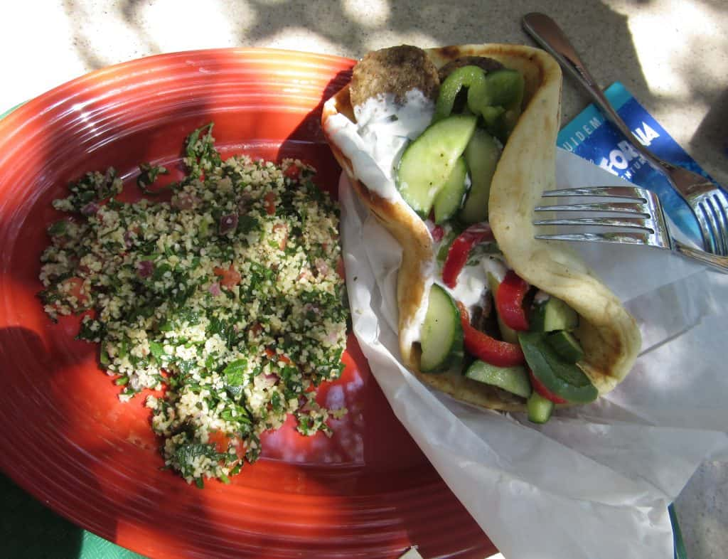 Gyro and Tabbouleh from Garden Grill in California Adventure | Delicious Not Gorgeous, Labor Day Weekend in SoCal