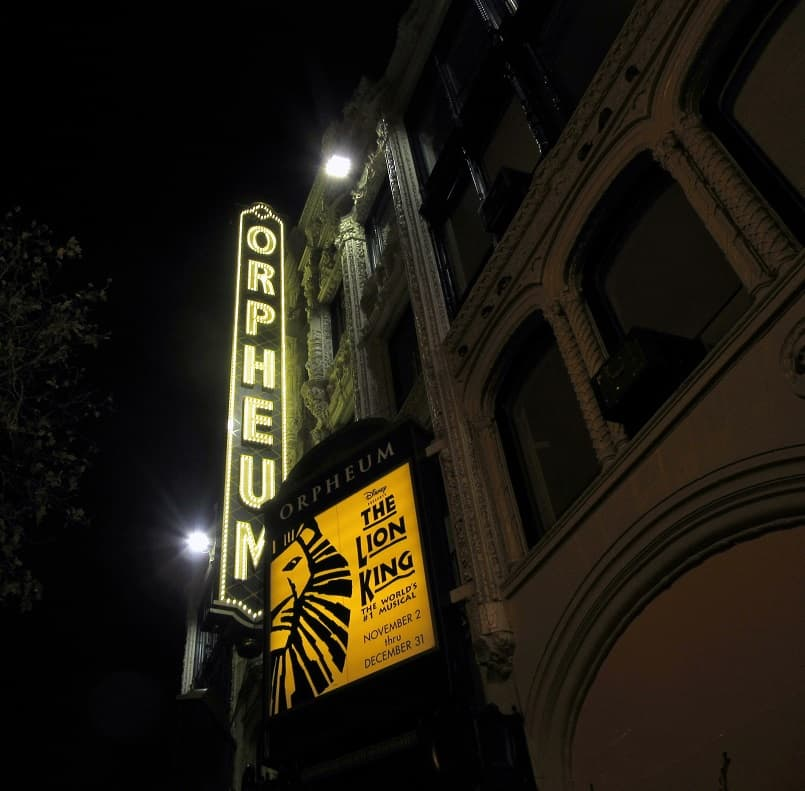 The Lion King at the Orpheum Theater in San Francisco | Delicious Not Gorgeous