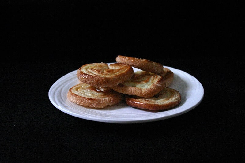 A pile of golden palmiers. #french #palmiers #cookies #puffpastry