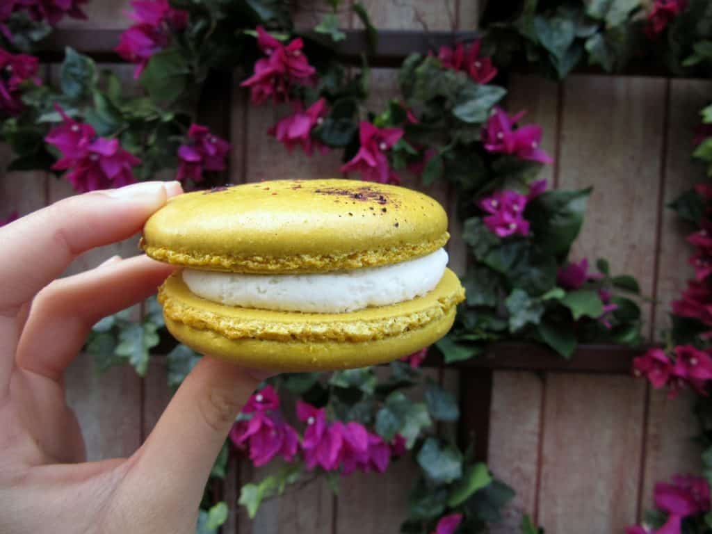 Lemon Blueberry Macaron, Food and Wine Festival 2017 at California Adventure | Delicious Not Gorgeous