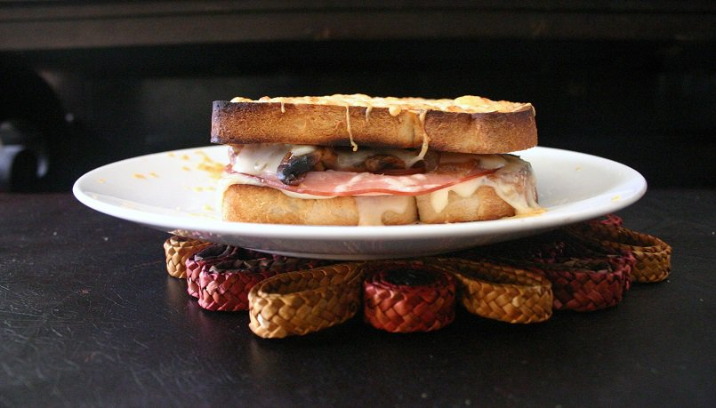 Caramelized Mushroom Croque-Monsieurs - Delicious Not Gorgeous