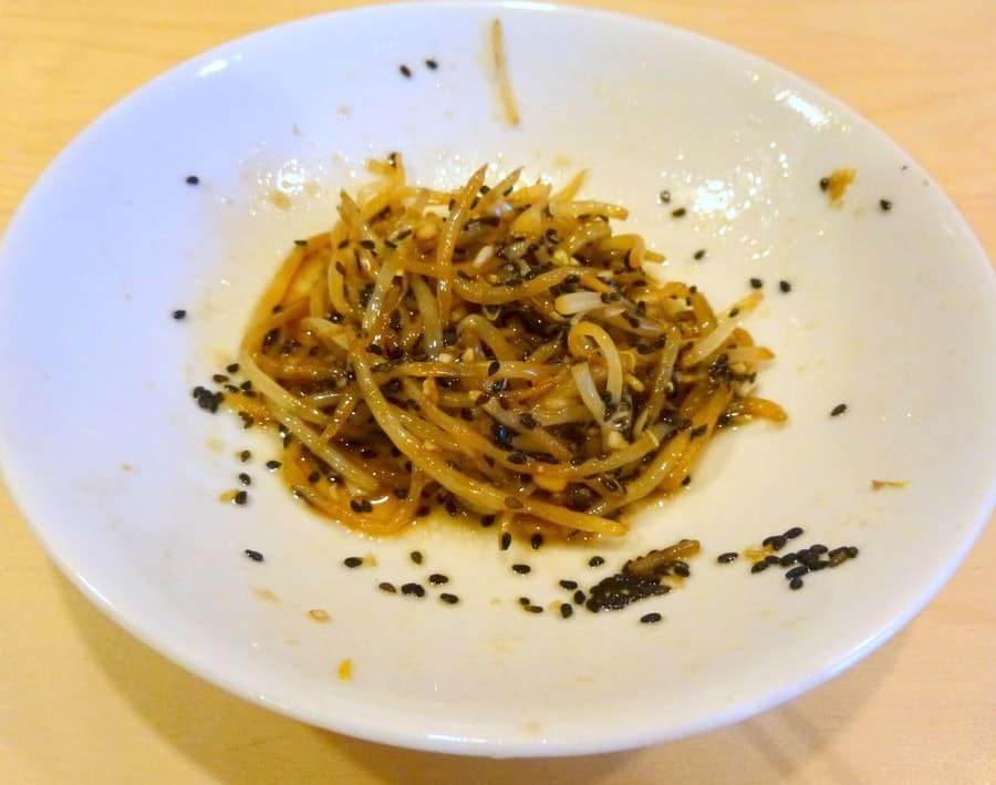 Sakamoto namul, or marinated bean sprouts, are flavored with soy sauce, sesame oil, sugar and garlic, and make for the perfect easy side dish.