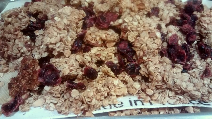Clumpalicious almond granola is exactly what it says it is; a granola filled with almonds that clumps oh so nicely instead of breaking off into tiny bits.