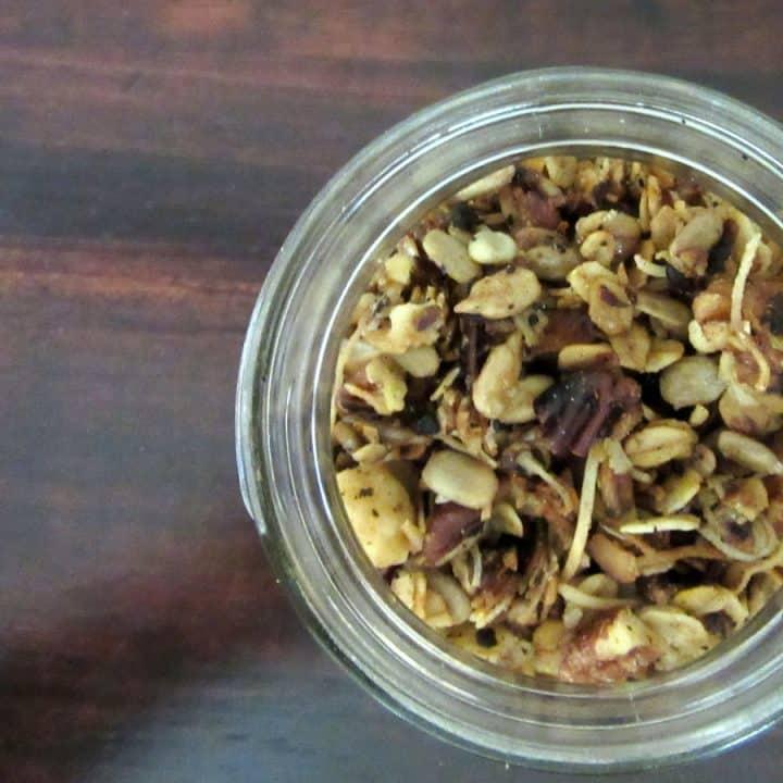 toasty pecan, cherry and coconut granola