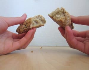 Buttermilk Oatmeal Raisin Scones: split