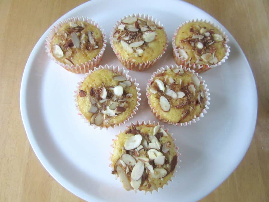These orange almond olive muffins are Tender muffins flavored with orange zest and almond meal.