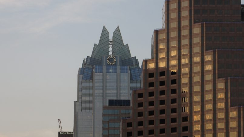 the frost bank tower, aka the elsa tower, in austin, texas | Delicious Not Gorgeous