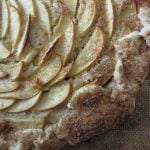 This apple, spiced pumpkin and frangipane galette is so easy to make it look good. Arrange the apples how you want and sprinkle sugar on the crust, and you're solid. #apple #pumpkin #frangipane #galette #thanksgiving
