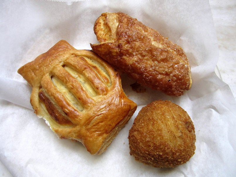 Guava cheese and cheese pastries, and a potato ball from Porto's in Glendale | Delicious Not Gorgeous, Labor Day Weekend in SoCal