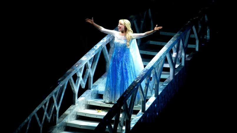 """Elsa in """"Frozen,"""" live at the Hyperion in California Adventure   Delicious Not Gorgeous, Labor Day Weekend in SoCal"""