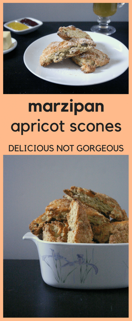 These marzipan apricot scones are perfect for brunch, a make-ahead breakfast, tea time, heck, any time!