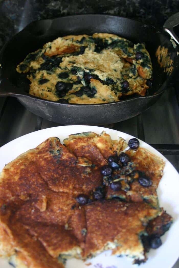 This blueberry quinoa pancake failed because it stuck to the pan and it tasted chemically. Read about more of my fails (and successes!) in the Delicious Not Gorgeous Review 2017.
