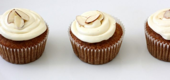 Sometimes carrot cake gets a bit boring. Enter masala chai, and your carrot cake takes on a gentle spice and a hint of bitter from the black tea. #carrotcake #cupcakes #creamcheesefrosting #chai