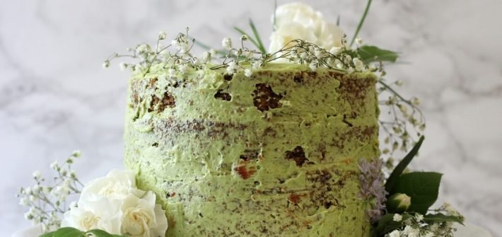 Jasmine Green Tea Cake With Raspberry Jam