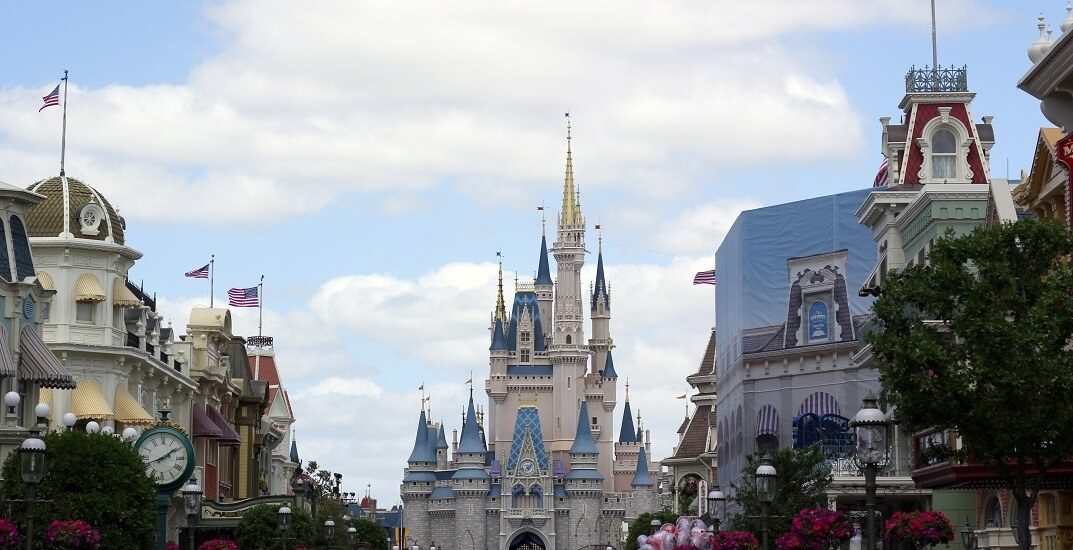 The iconic Cinderella Castle in the middle of Magic Kingdom at Walt Disney World. #waltdisneyworld #castles #themeparks #travelguide #wdw