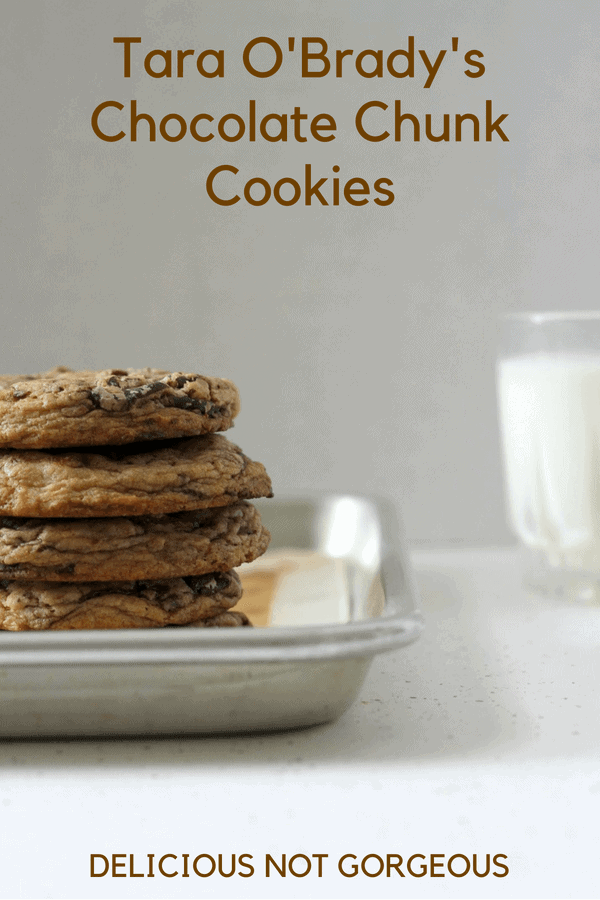 Yes, yes, another chocolate chip cookie recipe. But have you tried Tara O'Brady's chocolate chunk cookies?! They're perfectly chewy in the middle, with crispy edges, making them worthwhile to try. #chocolatechipcookies #chocolatechunkcookies #cookies #dessert