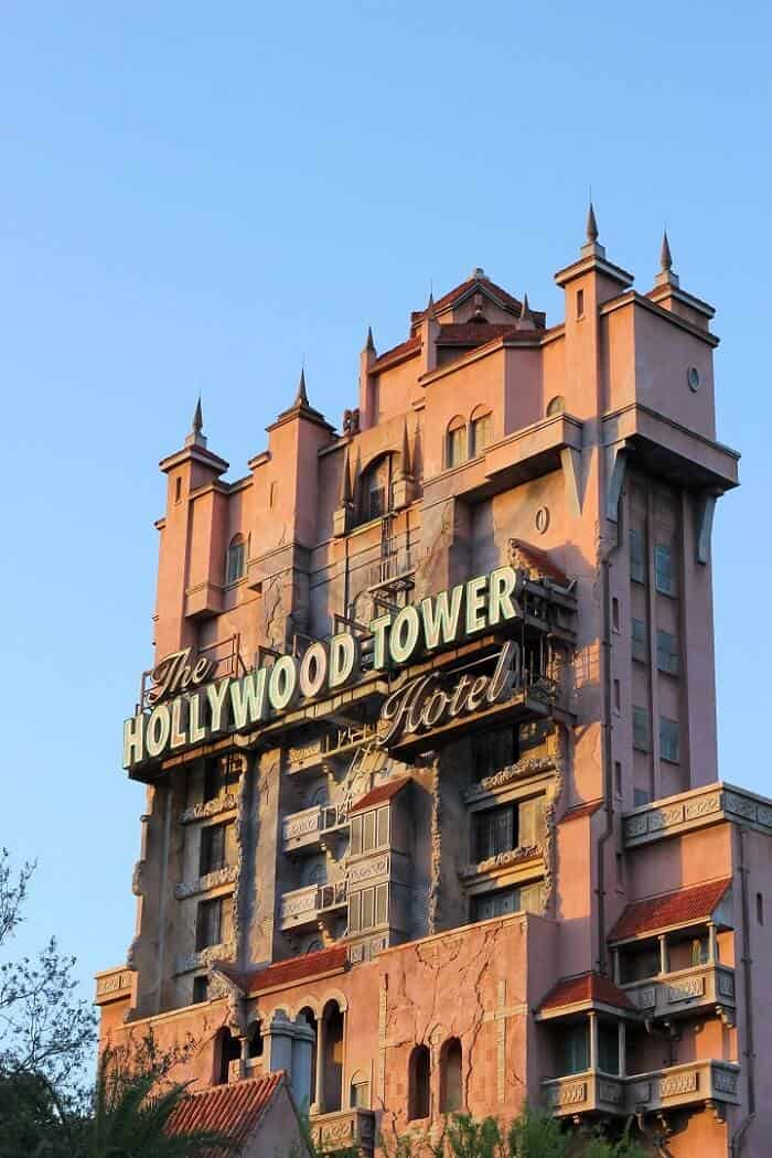 The Tower of Terror at Hollywood Studios in Walt Disney World. #waltdisneyworld #wdw #towerofterror #hollywoodstudios #themeparks #travelguide