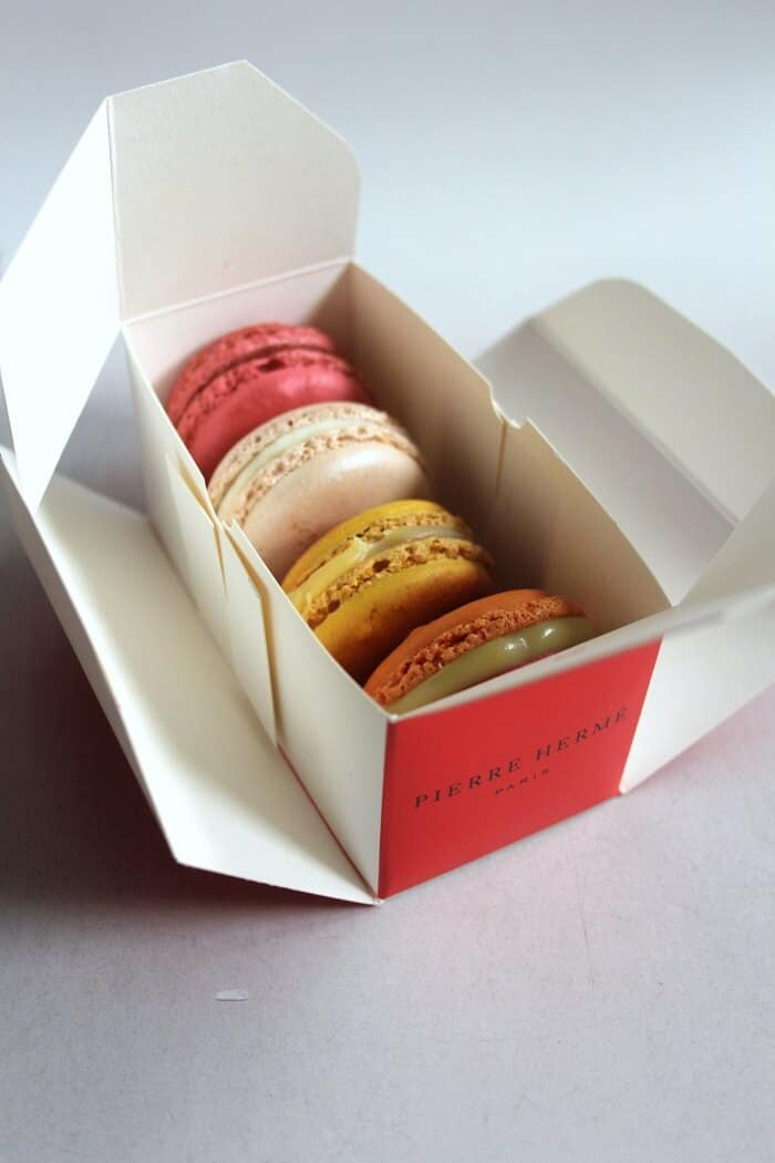 Macarons from Pierre Herme in Paris. Paris 2018 travel guide from Delicious Not Gorgeous. #macarons #pierreherme #paris #paristravelguide