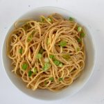 A sprinkling of green onions on top of these Vietnamese garlic butter noodles makes sure there's some crunch involved. #garlic #butter #noodles #pasta #sidedish