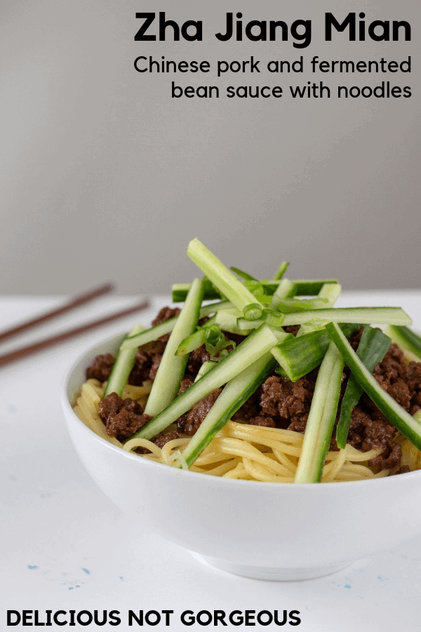 This zha jiang mian is everything you're looking for in a cozy noodle dish: a little sweet, carby, sauce-y, addictive. #chinese #asian #noodles