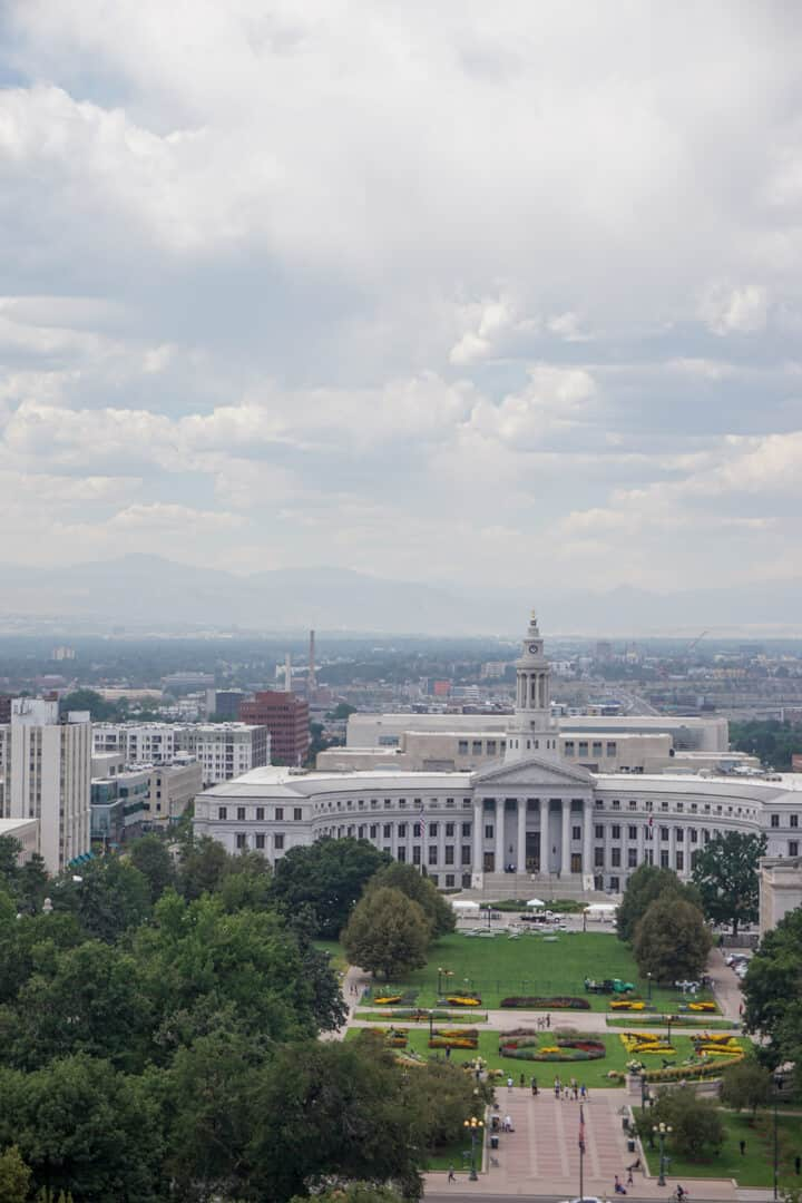 Views of downtown Colorado from the Colorado State Capitol.