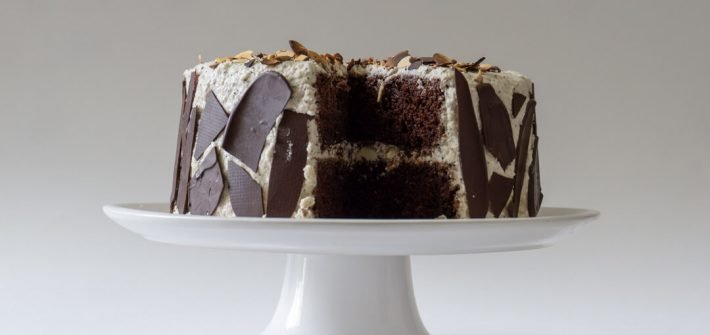 Take a bite out of this mocha cake!