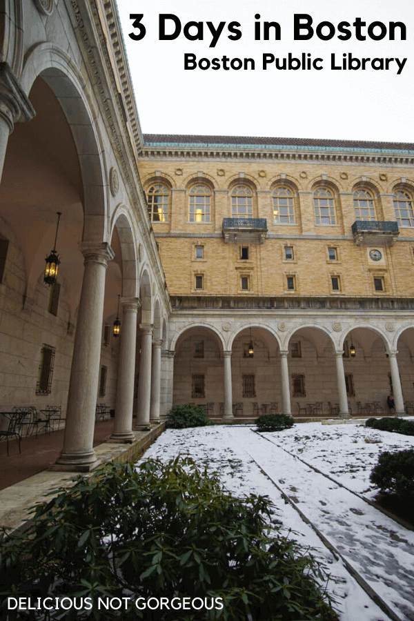 Courtyard at the Boston Public Library.