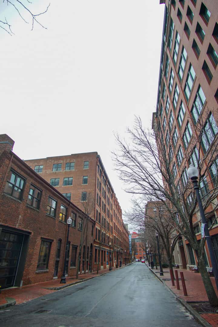 Brick buildings in Boston, MA.