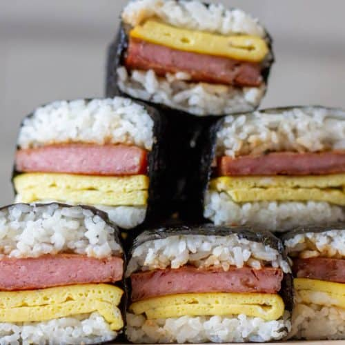 Spam Musubi With Egg Recipe Delicious Not Gorgeous